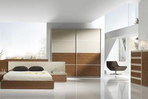 Dormitorio Moderno Villalva Dormitorio Moderno Chapa Natural y Laca. Muebles Díaz