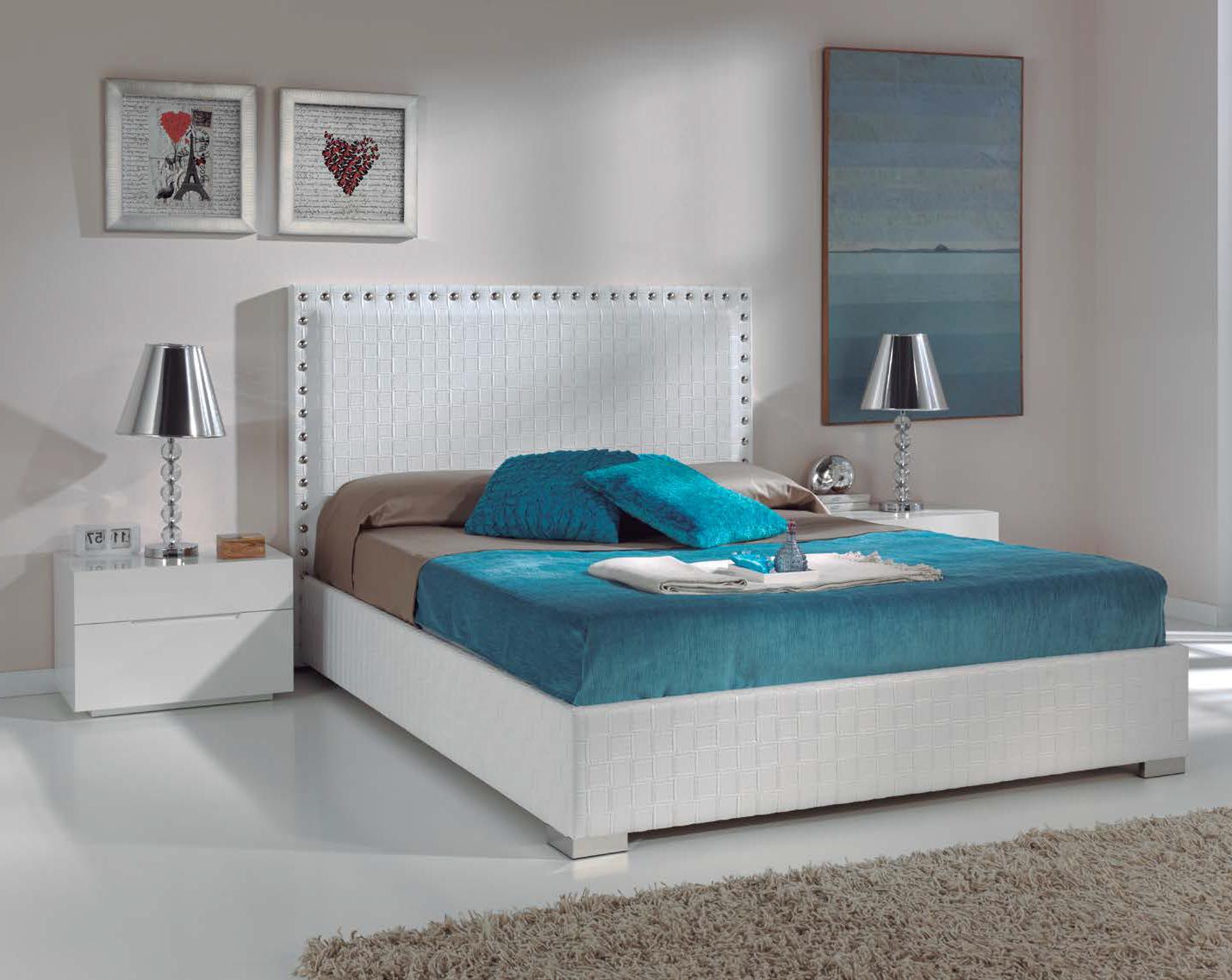 Cama tapizada malta muebles d azmuebles d az for Cama tapizada