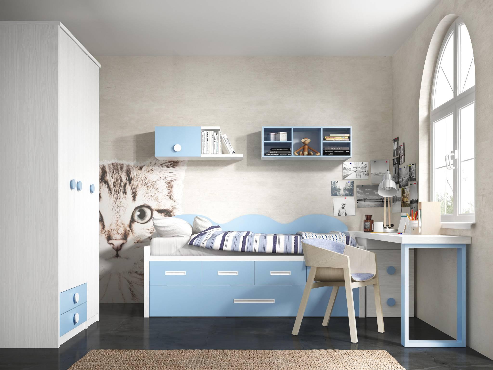 Dormitorio Juvenil Orbigo. Dormitorio Juvenil con Armario . Muebles Díaz