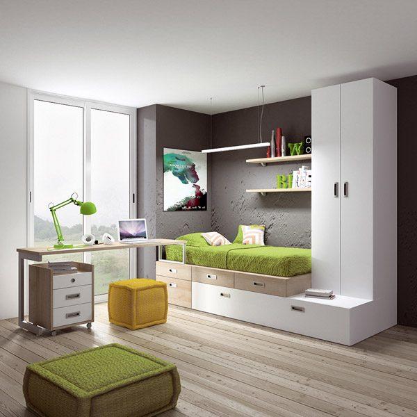 Dormitorio juvenil moderno best dormitorios juveniles for Compactos juveniles baratos