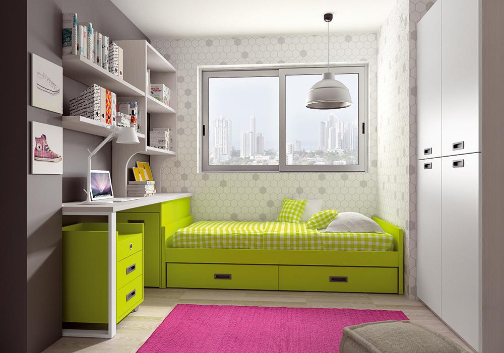 Dormitorio Juvenil Castañar. Dormitorio Juvenil Moderno Muebles Díaz