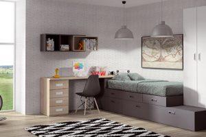 Dormitorio Juvenil Valdemorales. Dormitorio Rústico Juvenil Muebles Díaz
