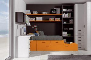 Dormitorio Juvenil Viandar. Dormitorio Rústico Juvenil Muebles Díaz