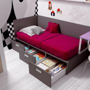 Dormitorio Juvenil Villamiel. Dormitorio Rústico Juvenil Muebles Díaz