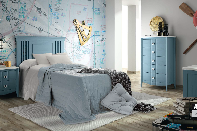 Dormitorio Juvenil Magasca. Dormitorio Rústico Juvenil Muebles Díaz