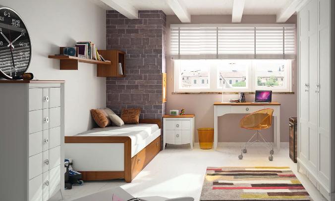 Dormitorio Juvenil Serradilla. Dormitorio Rústico Juvenil Muebles Díaz