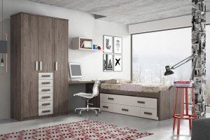 Dormitorio Juvenil Cerdeña. Dormitorio Juvenil con Armario Muebles Díaz