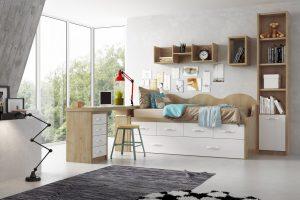 Dormitorio Juvenil Lacio. Dormitorio Juvenil Blanco y Nórdico Muebles Díaz