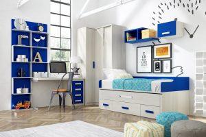 Dormitorio Juvenil Abruzos. Dormitorio Juvenil con Armario de Rincón Muebles Díaz