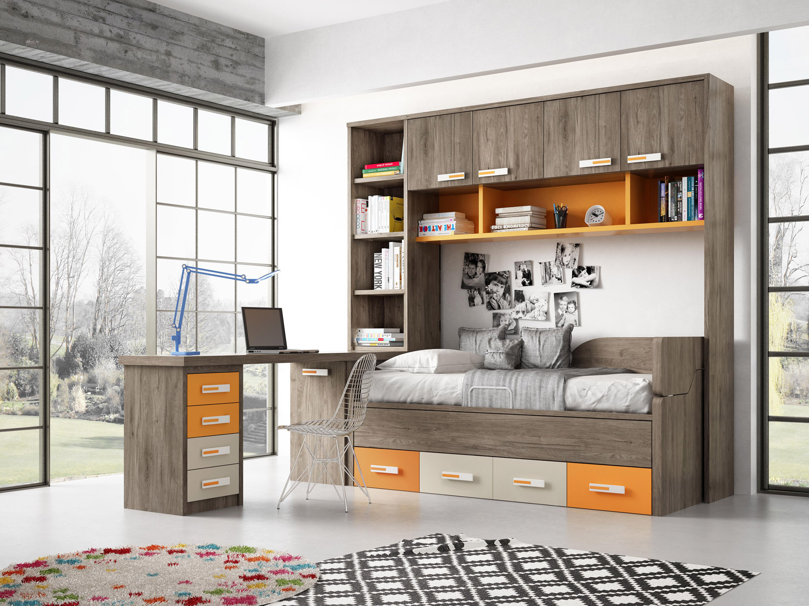 Dormitorio Juvenil Toscana. - Muebles DíazMuebles Díaz