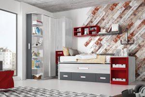 Dormitorio Juvenil Bidasoa. Dormitorio Juvenil con Armario de Rincón Muebles Díaz