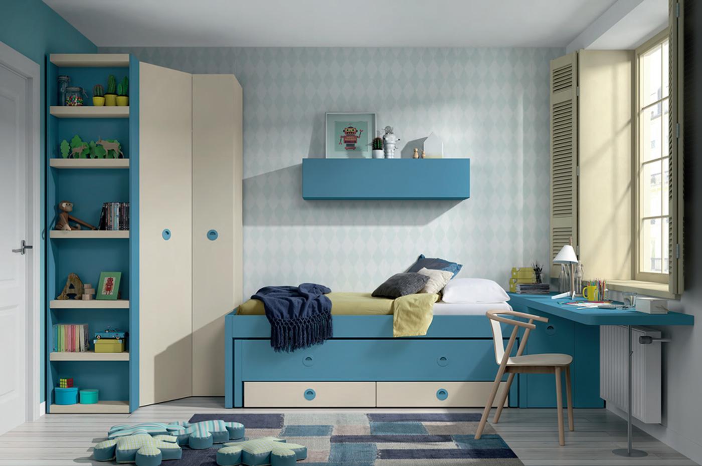 Dormitorio Juvenil Teleno. Dormitorio Juvenil con Armario de Rincón Muebles Díaz