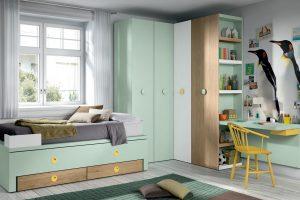 Dormitorio Juvenil Vigo. Dormitorio Juvenil con Armario de Rincón Muebles Díaz