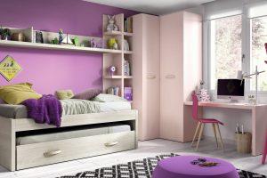 Dormitorio Juvenil Adaja. Dormitorio Juvenil con Armario Rincón. Muebles Díaz
