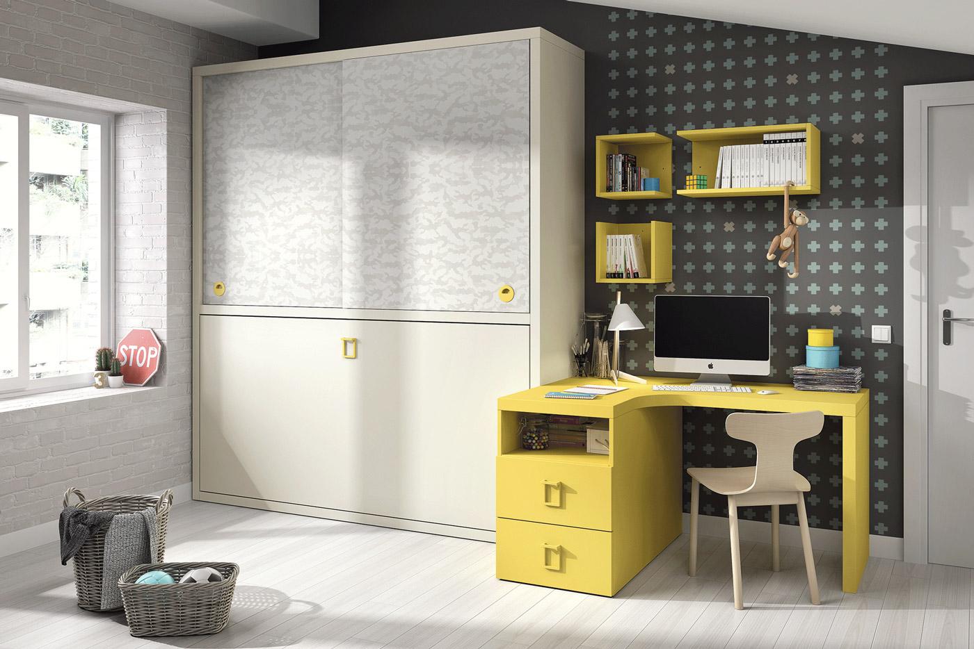 Cama Convertible Horizontal Duratón. Dormitorio Juvenil con Cama Horizontal Muebles Díaz