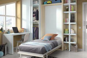 Cama Convertible Vertical Riaza. Dormitorio Juvenil con Cama Abatible Vertical Muebles Díaz
