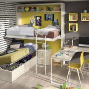 Litera Abatible Valsaín. Dormitorio Juvenil con Cama Litera Abatible, Muebles Díaz