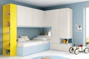 Dormitorio Juvenil Candeleda. Dormitorio Juvenil con Puente. Muebles Díaz
