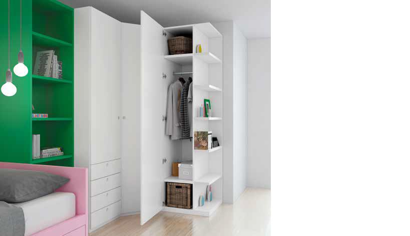 Dormitorio Juvenil Castellanos. Dormitorio Juvenil Diseño con Armario de Rincón Muebles Díaz