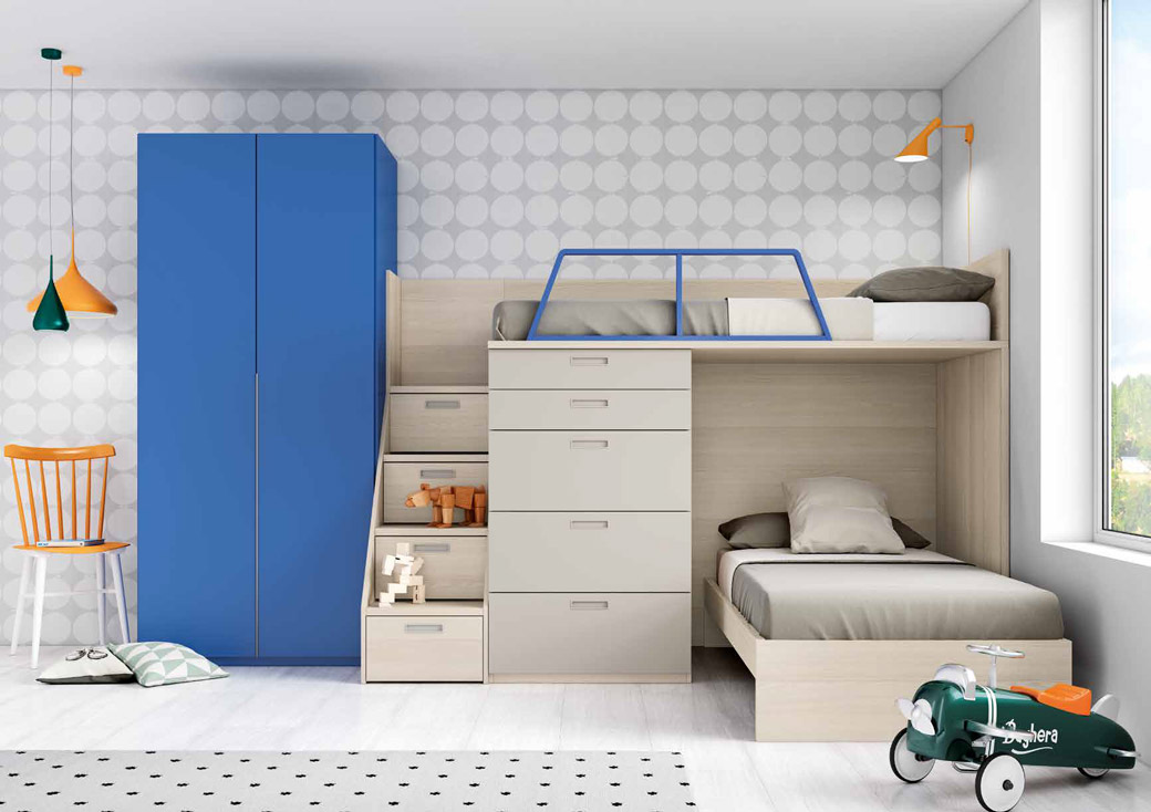 Litera en l due as muebles d azmuebles d az Dormitorio juvenil en l