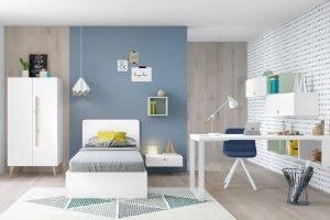 Dormitoro Juvenil Voltoya. Dormitorio con Cama Juvenil Moderno Muebles Díaz