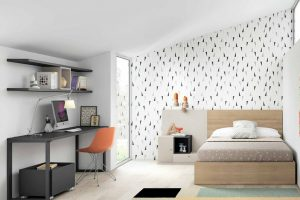 Dormitoro Juvenil Medina. Dormitorio con Cama Juvenil Moderno Muebles Díaz