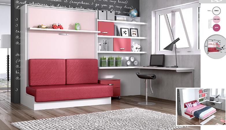 Juvenil cama abatible con sof pe aflor muebles - Sofa cama juvenil ...