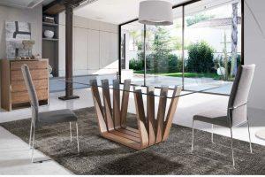 Mesa Comedor Moderna Roma. Mesa Comedor Moderna Tapa Cristal Muebles Díaz