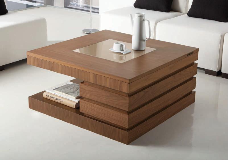 Mesa centro moderna azut n muebles d azmuebles d az for Mesas de comedor cuadradas modernas