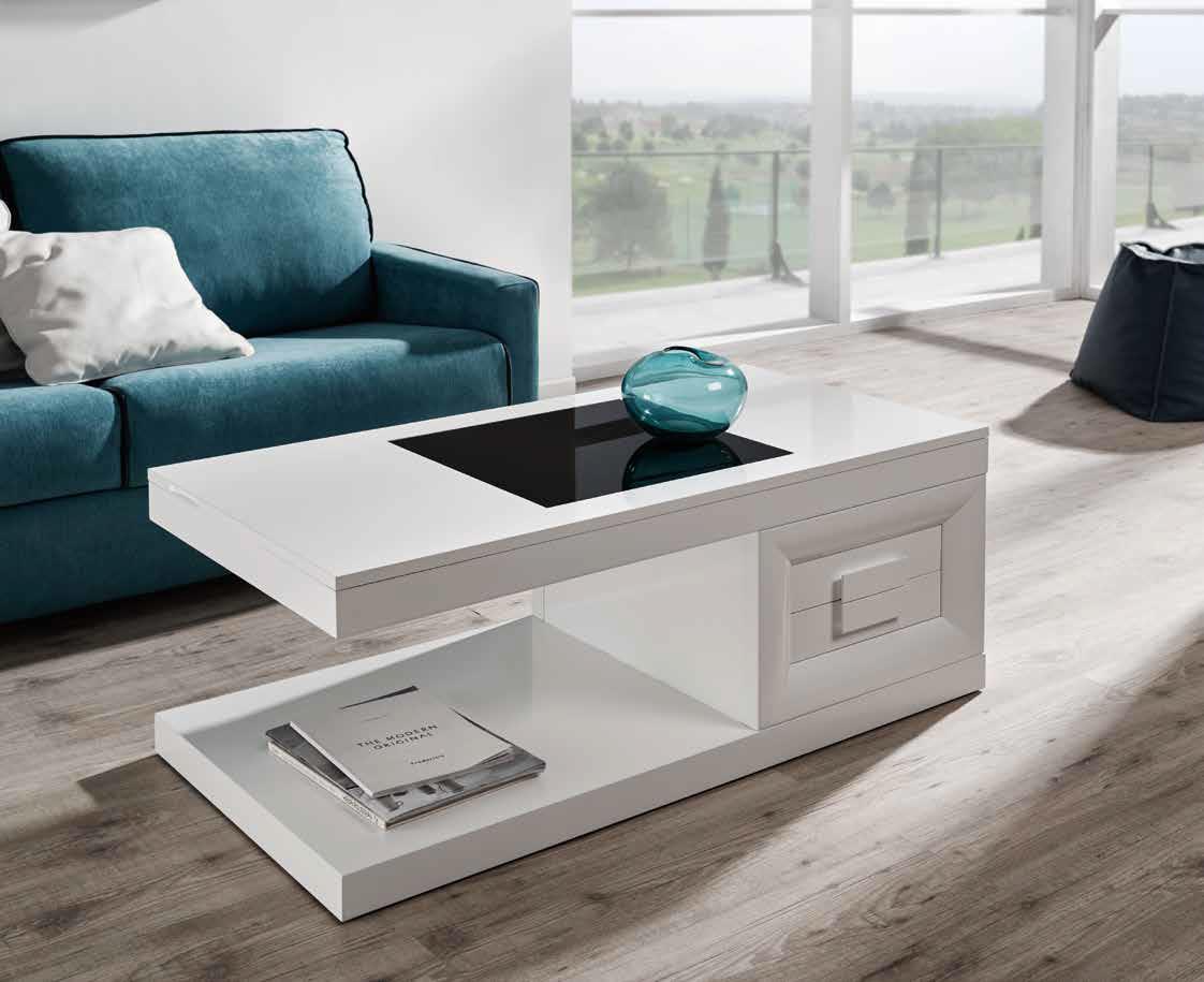 Mesa centro moderna dosbarrios muebles d azmuebles d az - Baul mesa de centro ...