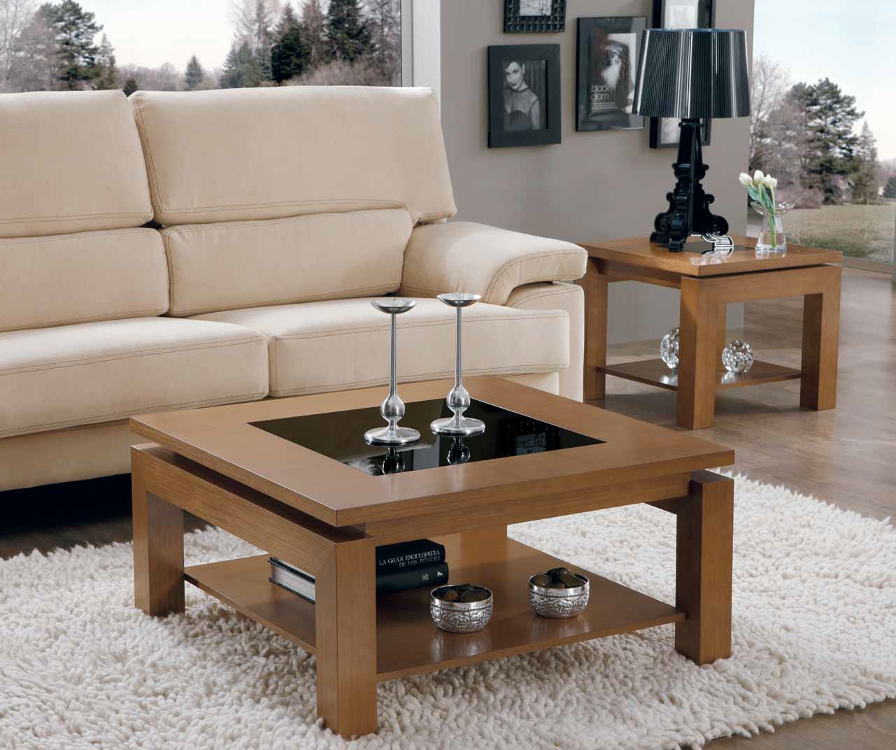 Mesa centro moderna cuadrada mejorada muebles for Diseno de mesa plegable
