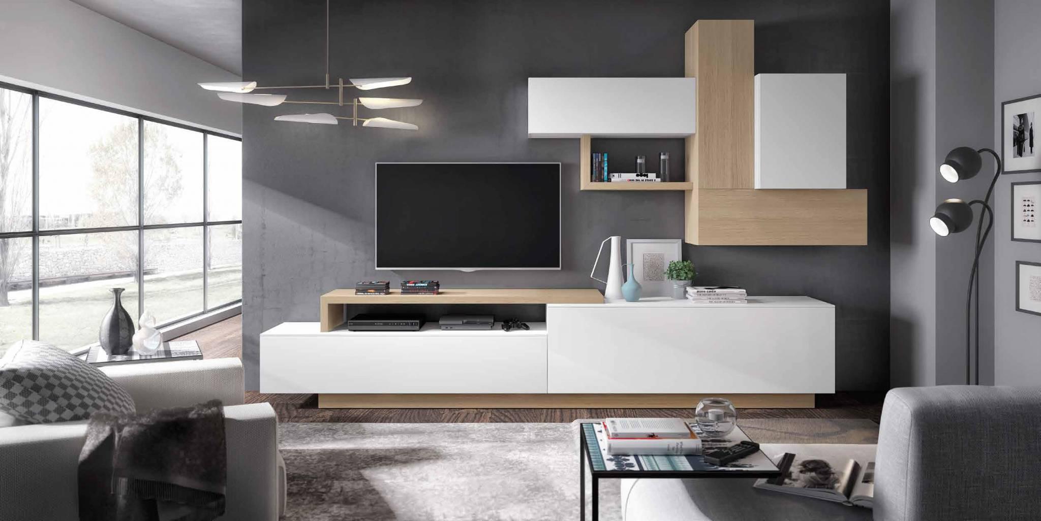 Sal n moderno marano muebles d azmuebles d az - Salon moderno blanco ...