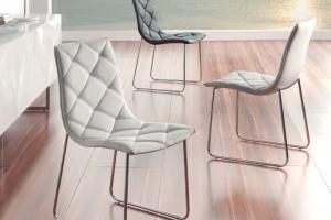 Silla  Moderna Metálica Aruba. Silla Moderna Tapizada Diseño. Muebles Díaz