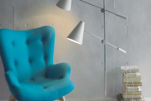 Lámpara Pie Doha. Lámpara Pie Diseño Muebles Díaz