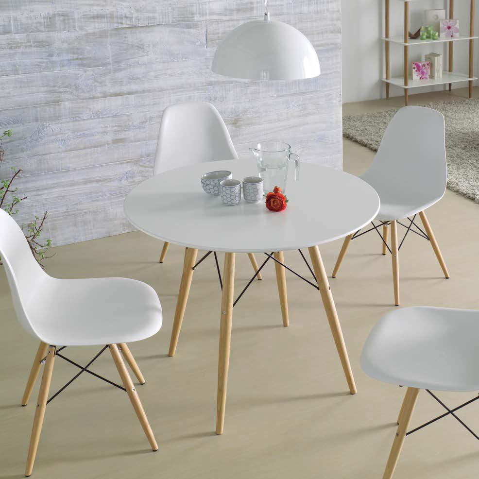 Mesa redonda dinamarca muebles d azmuebles d az - Mesas salon redondas ...