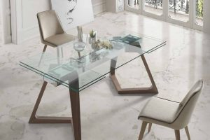 Mesa Comedor Moderna  Guadelemar. Mesa Comedor Cristal Diseño  Muebles Díaz
