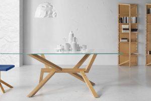 Mesa Comedor Moderna Zujar. Mesa Comedor  Cristal Diseño Muebles Díaz