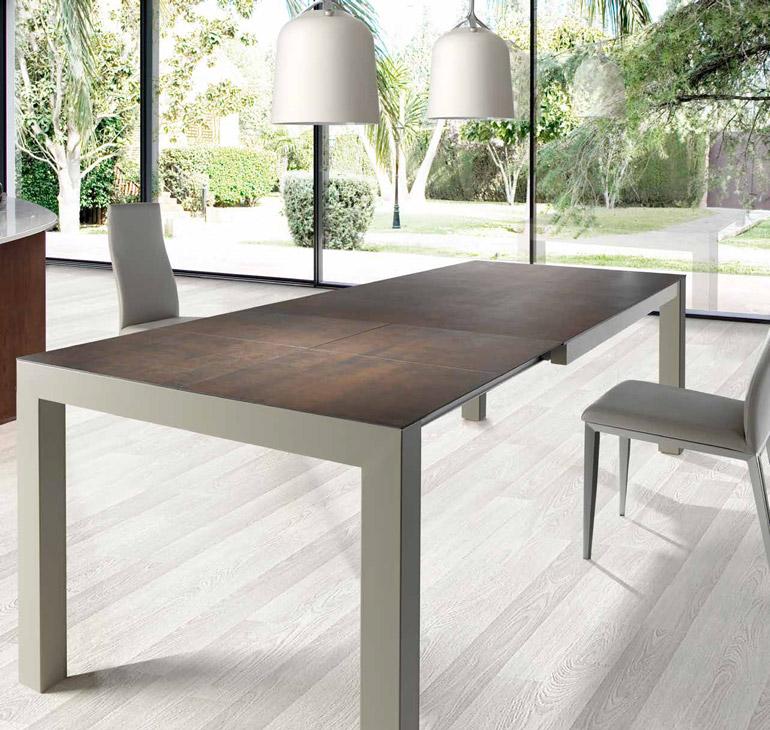 Mesa comedor moderna burdalo muebles d azmuebles d az - Mesa comedor porcelanico ...