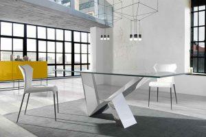 Mesa Comedor Moderna Catanzaro. Mesa Comedor Diseño con Estructura en Acero Muebles Díaz
