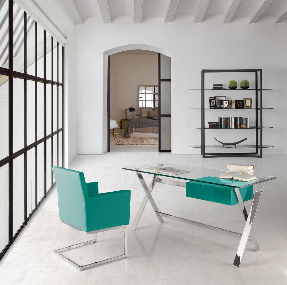 Mesa despacho dise o zacatecas muebles d azmuebles d az for Mesa cristal oficina