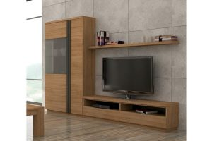 Mueble Apilable Moderno Roble San Roque. Mueble Apilable Salón Moderno Chapa de Roble. Muebles Díaz