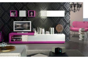 Mueble Apilable Moderno Lacado Alajar.  Mueble Apilable Moderno Lacado Brillo Muebles Díaz