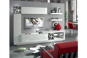 Mueble Apilable Moderno Lacado Almonte.  Mueble Apilable Moderno Lacado Brillo Muebles Díaz