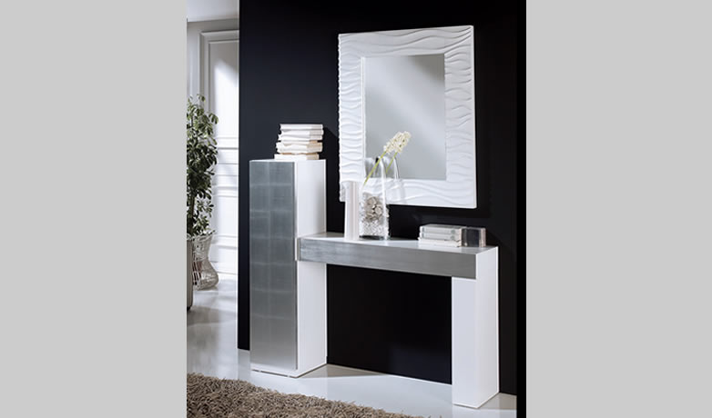 Recibidor moderno valderrubio muebles d azmuebles d az - Muebles recibidor modernos ...