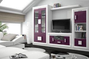 Mueble Apilable Moderno Lacado Medina. Mueble Apilable Salón Moderno Lacado Muebles Díaz