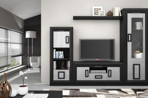 Mueble Apilable Moderno Lacado Olvera. Mueble Apilable Salón Moderno Lacado Muebles Díaz
