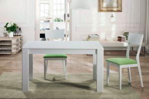 Mesa Moderna Alaejos. Mesa moderna lacada. Muebles Díaz