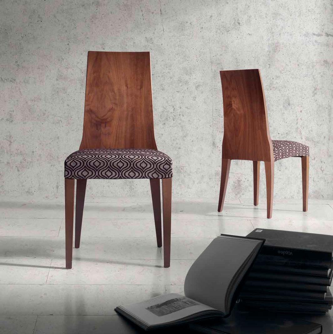 Silla moderna nuez muebles d azmuebles d az for Sillas descanso modernas