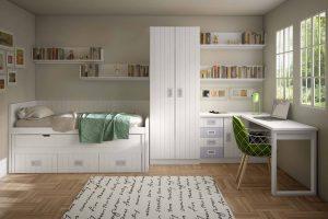Juvenil Lacado Sesna. Dormitorio Juvenil Rayado Lacado. Muebles Díaz