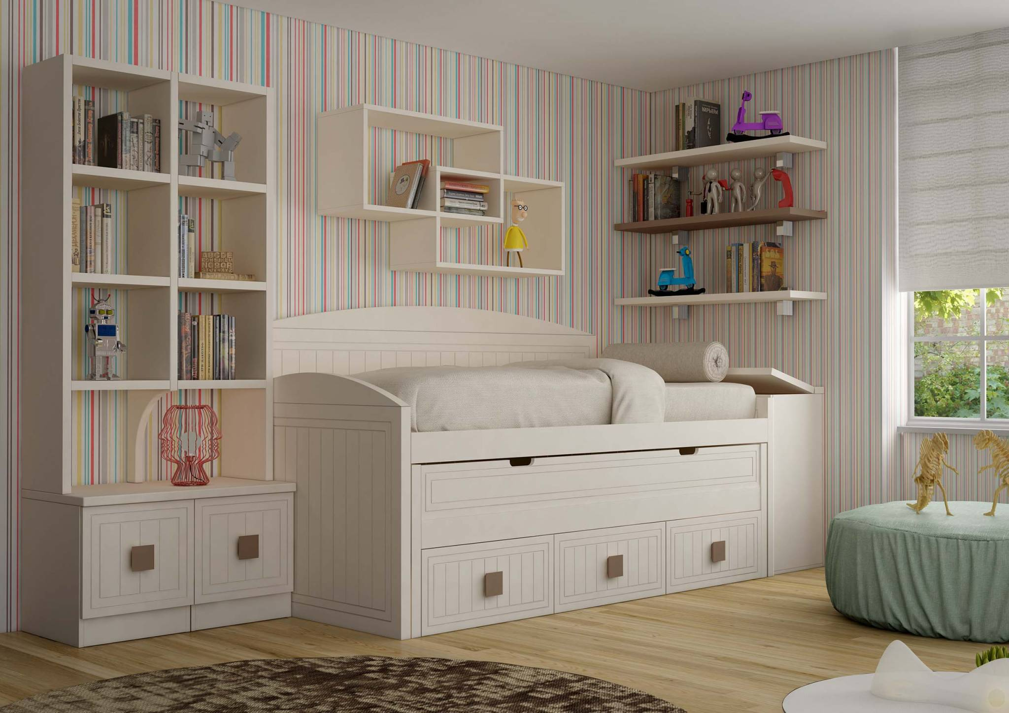 Juvenil lacado tabara muebles d azmuebles d az - Baules para dormitorios ...